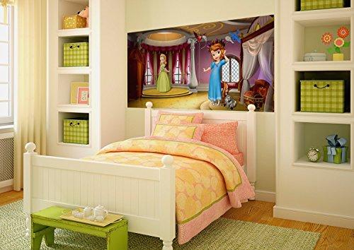 AG Design FTDh 0648 Sofia die Erste Disney, Papier Fototapete Kinderzimmer - 202x90 cm - 1 Teil, Papier, multicolor, 0,1 x 202 x 90 cm