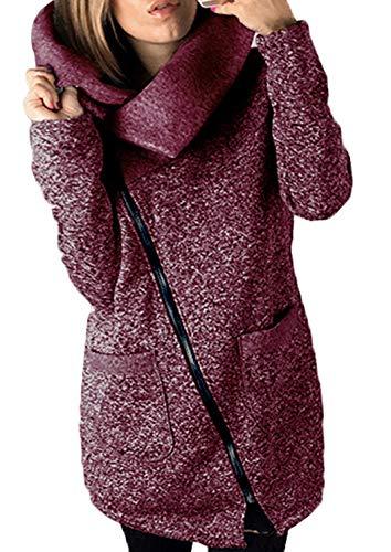Damesjas mode winter lange mouwen rolkraag shirt outdoorjas chic voorzakken met rits bovenkleding trendy comfortabel cardigan