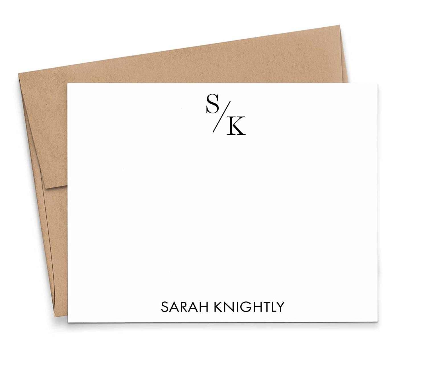 Personalized Max 67% OFF Two Letter Popular product Stationary Monogram Set FLAT