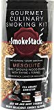 SmokeStack Finely Ground Wood Chips and Smoker Box – Evenly Adds Smoke Flavor with No Pre Soaking Needed | Works with Any Heat Source including Grills, Stovetops, and Ovens (Mesquite Flavor)
