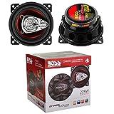 2 Altavoces Compatible con Boss Audio Systems CH4230 CH 4230 coaxial de 3 vías 10,00 cm 100 mm 4' diámetro 112,5 vatios rms 225 vatios máx 4 ohmios 90 db spl Coche, por par