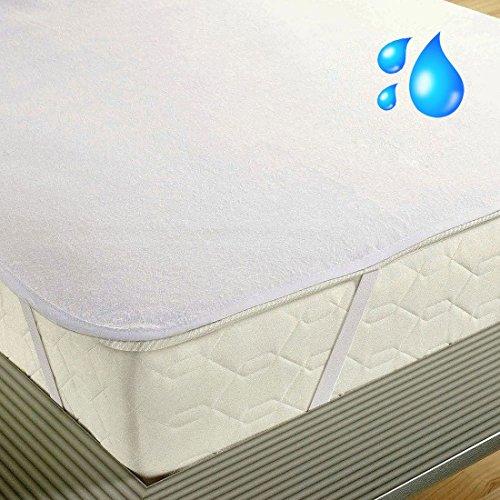 SETEX Molton Matratzenschoner - 100% Baumwolle, weiß, 100 x 200 cm