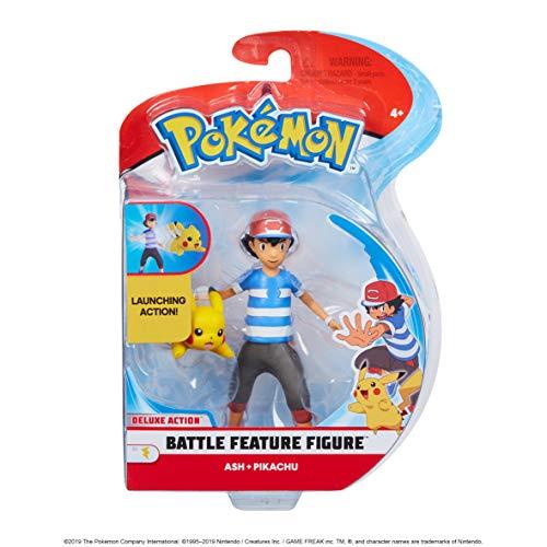 Pokemon 98121 POKÉMON - Figuras de 4,5 Pulgadas (Ash y Pikachu), sin Colores