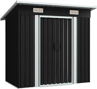 vidaXL Szopa ogrodowa z 2 otworami wentylacyjnymi, drzwi przesuwne, domek na narzędzia, domek ogrodowy, szopa ogrodowa, an...