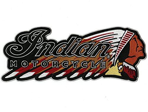 Indian Motorcycle Nixon Thread Co. Warbonnet Aufnäher zum Aufbügeln für Jacke, bestickt, groß, 29,2 cm