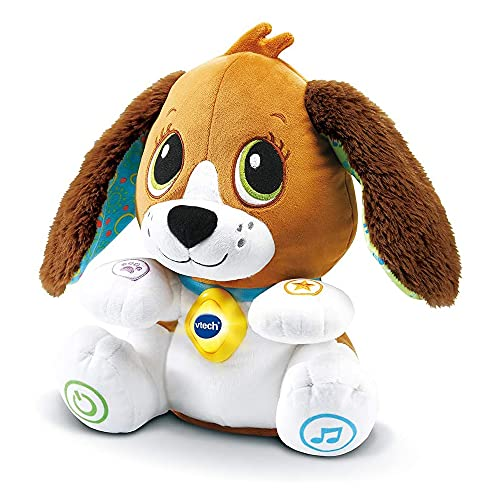 VTech Sira la perrita interactiva, Suave Animal de Peluche Que fomenta la conversación y Repite lo Que Dices, Juguete para bebés +12 Meses-Versión ESP (80-610122) (3480-610122)