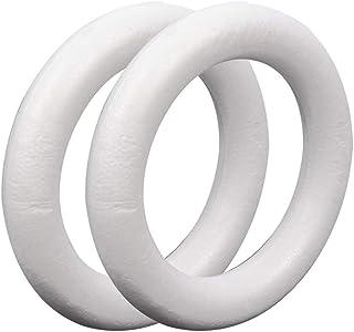 Helmay Lot de 2 couronnes rondes en polystyrène expansé 25 cm x 4 cm