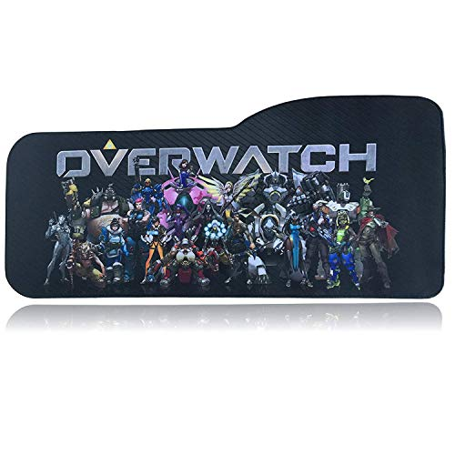 Overwatch Gaming Mouse Pad Professional Curved Extended Size Large Computer Laptop Keyboard Desk Mat Waterproof Mousepad with Stitched Edges Anti Slip Rubber Base Desk Pad for School Office Home