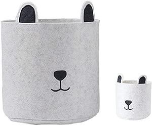 Storage Basket Foldable Dustproof Storage Bag Children Toy Storage Bucket Cartoon Storage Bins For Office Closet Toys Laundry  2pcs