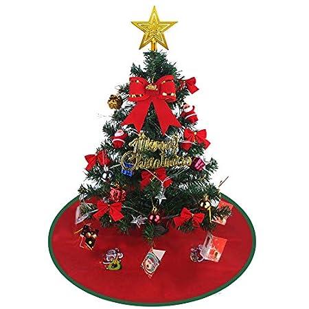 【12/25まで】高さ55cm 卓上クリスマスツリー、LED電飾等飾り付き 999円!2000円以上 or プライム会員は送料無料!【間に合いそう】