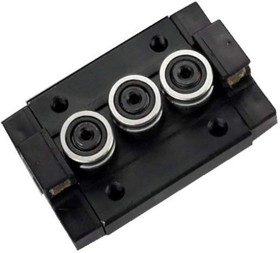 SGB10 Rodamiento rectangular tipo rueda deslizante con tratamiento anodico negro SGB-UU 1 unidad para eje doble interno de riel lineal 1 3UU TEN-HIGH Slide Block