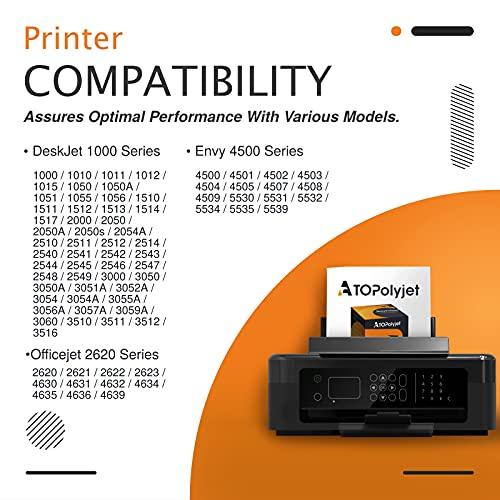 ATOPolyjet Remanufactured for HP 301 301XL Cartucho de Tinta 1 Pack para Deskjet 1000 2050 2510 2540 3000 3050 Envy 5530 4500 4507 5532 4502 5534 4504 Officejet 2620 2622 4630 4632, Tri-Color & Negro
