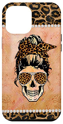 iPhone 12 Pro Max Case with Design Skull for Girls Women Teens Cute Case