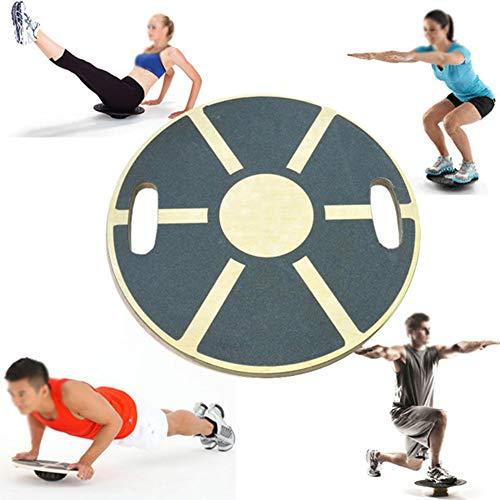 lxfy Wooden Wobble/Balance Board/Rehabilitation, Balance Board, Behandlung, Verhindern Sie Knieverletzungen, Knöchelverletzungen, Verbessert das Gleichgewicht