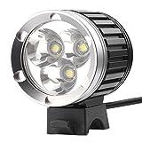 DB POWER Katia Linterna Lámpara Frontal Cabeza Cree XM-L T6 3 LED 4200LM Luz Blanco Camping