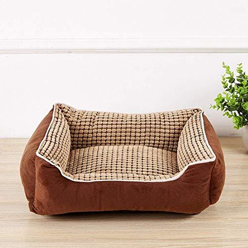 YLCJ Hundebett, Orthopädie & Sofa mit abnehmbarem, waschbeständigem Four Seasons-Bezug für mittelgroße und große Haustiere Grau, A, M