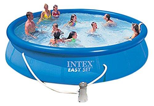 Intex 28162 Piscina Easy con Pompa, Blu, 65.09x29.85x51.76 cm