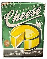 ブリキ看板 Tin Sign Metal plate plaque XXL Nostalgic Fun Cheese
