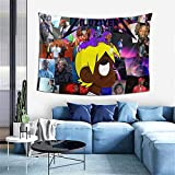 Bestrgi Print Fabric Music Office Tapestry L-i l and U-z Wall Art i Artwork V-er-t Decor Wall Art Blanket Tapestries Colorful Bedroom Hall Dorm Living Room Hanging Bedding 60 x 40 inches Gift