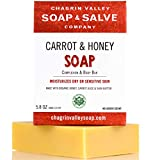 Chagrin Valley Soap & Salve - Organic Natural Soap Bar - Carrot & Honey Complexion 2X Pack
