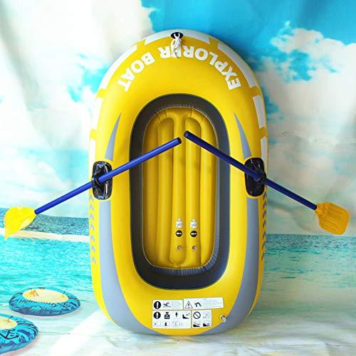 Hinchable Kayak, Canoa con Deportes Acuáticos De Remo, 1 Hombre Canoa Kayak De Mar con Bolsa, 50 * 100 Cm