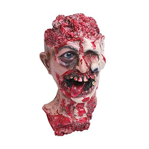 AmosfunHorror Vampiro adulto infectado cabeza zombi espantoso disfraz de fiesta...
