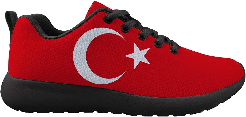 Owaheson Cushioning Sneaker Trail Running shoes Mens Womens Turkish Flag