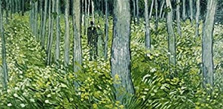 undergrowth with two figures 1890
