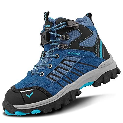 VITIKE スノーブーツ防水防寒靴スノーシューズ防滑軽量アウトドアシューズウィンターブーツ綿雪靴暖かい滑り止め登山靴人気トレッキングシューズ冬幅広ハイテックゴアテックス24センチメートル