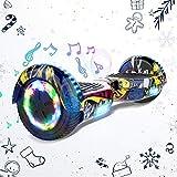 """HITWAY Overboard Hover Scooter Board Gyropode Bluetooth 6.5"""", Scooter Electrique Moteur 703W, Self-Balance Board avec Roues LED Flash, électrique Hoverboard Auto-Equilibré Cadeau pour Enfants et Ados"""