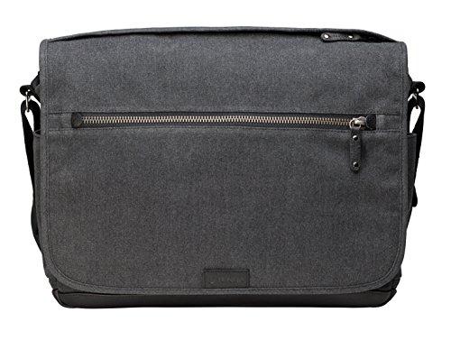 Tenba TENBA Cooper 15 Camera Bag - Grey Canvas - Black Leather