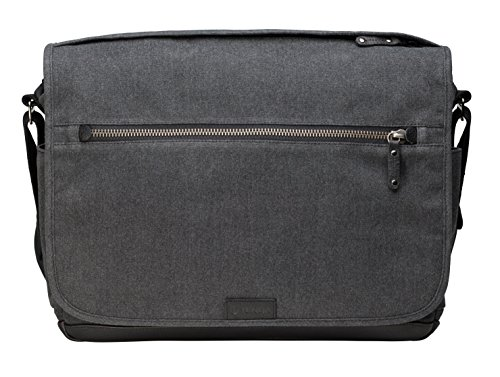 Tenba TENBA Cooper 15 Camera Bag - Grey Canvas - Black Leather