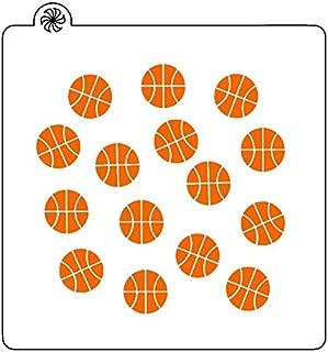 Basketball Background Cookie Stencil