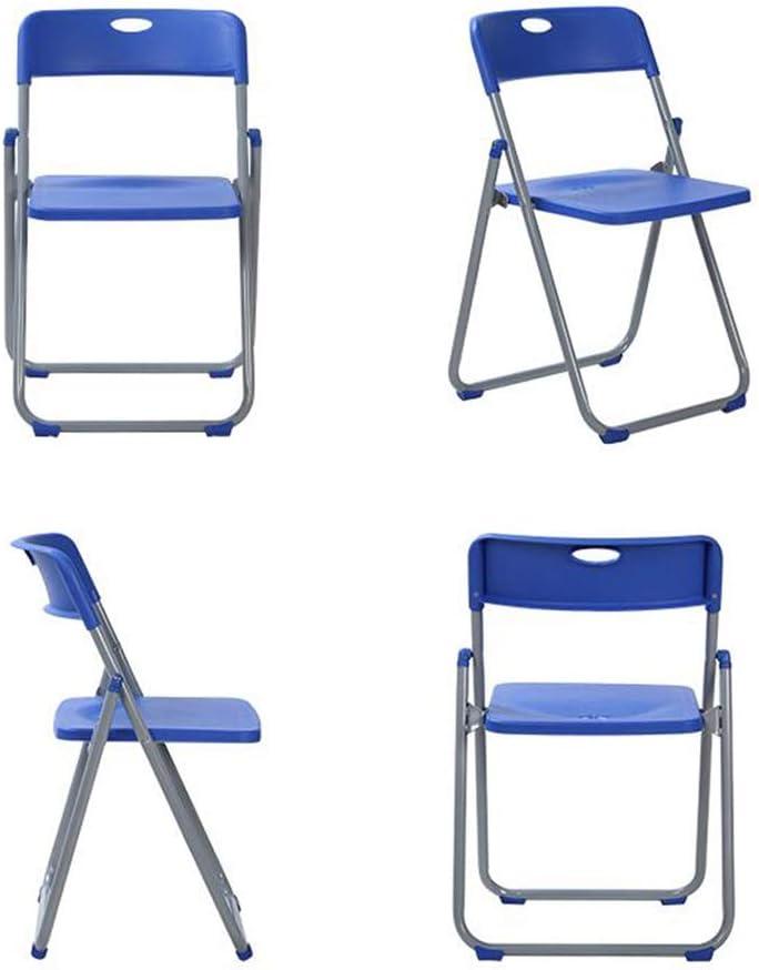 GLJJQMY Chaise Pliante réunion Rencontre avancée Chaise Confortable en Plastique Chaise empilable (Color : Black) Blue