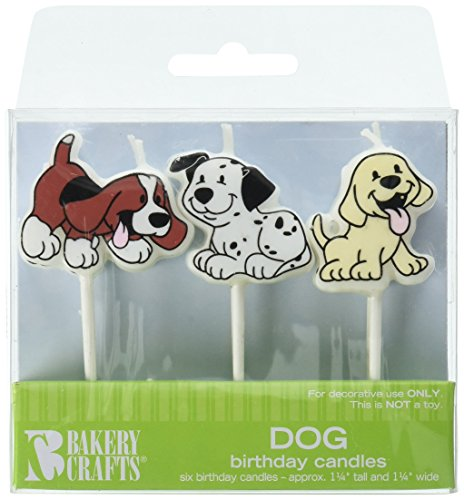Oasis Supply Dog Birthday Candles,6-Piece, 1 1/4' tall and 1 1/4' wide.