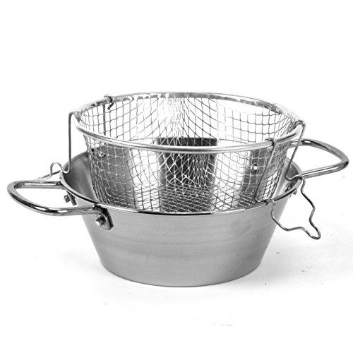 Tegame Friggitrice in ferro con cestello in acciaio inox LAR (30cm)