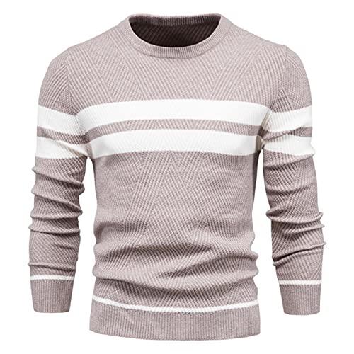 Suéter de los hombres O-cuello patchwork manga larga caliente Slim suéteres hombres casual moda suéter hombres ropa