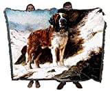 Pure Country Weavers Saint Bernard Robert May Blanket Throw Woven from Cotton - Made in The USA (72x54)