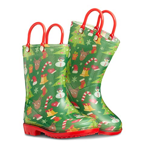 ZOOGS Printed Kids Toddler Rain Boots for Girls and Boys,Robot,3