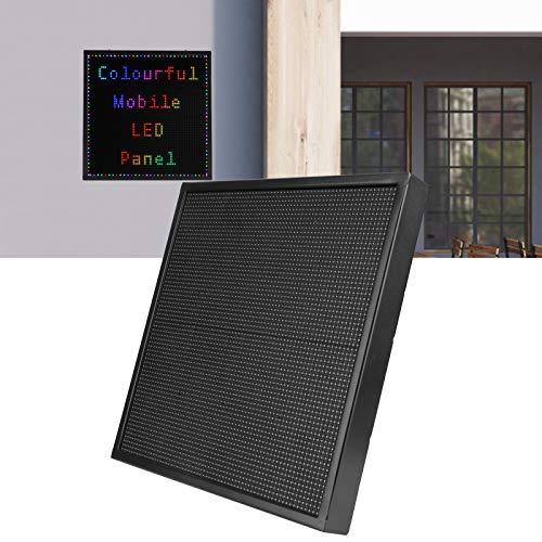 Pantalla LED de mensajes con desplazamiento,placa de visualización de mensajes digitales RGB a todo color programable por WiFi con aplicación de teléfono, placa de publicidad LED parpadeante