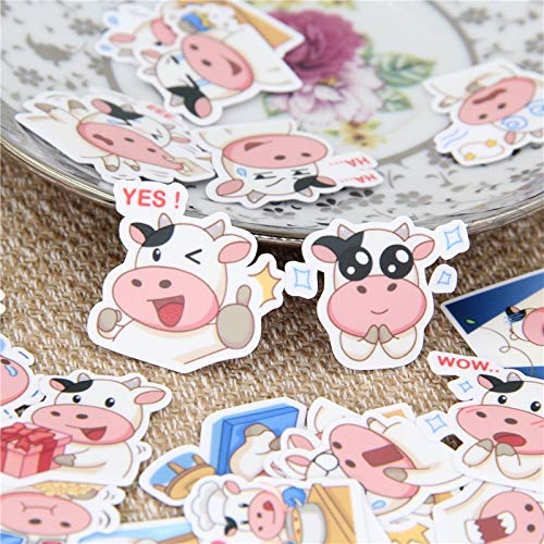 HENJIA Meng Cow Expression Sticker Decal For Phone Car Case Waterproof Laptop Album Diary Backpack Kids Toy Stickers40 Pcs