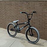 GASLIKE Marco de Acero de Carbono Completo de 20 Pulgadas BMX Bike, 3D Forjado Adecuado para Principiantes a Nivel avanzado Bicicletas de Street Bikes BMX,B