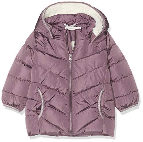 NAME IT Baby-Mädchen NBFMUS Puffer Jacket Camp Jacke, Violett (Black Plum Black Plum), (Herstellergröße: 80)