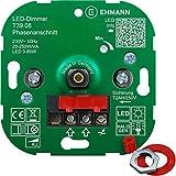 EHMANN 3900x0800 T39.08 Unterputz-Dimmer, Phasenanschnitt, 230 V, 50 Hz, Leistung: LED 3-85 W, 20-250 W/VA, inkl. Schalterprogramm-Adapter