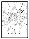 Feidazh Impresión en Lienzo España Oviedo Cuadro en Lienzo Modernos Mapa de la Ciudad Cuadro sobre...