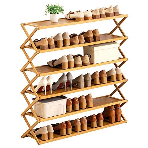 Estante de Soporte de Zapatos INSTALACIÓN GRATUITA GRATUITA PERMANECER LIBRE El estante para zapatos ecológico para el hogar de zapatos para el hogar Organizador de almacenamiento de zapatos de bambú