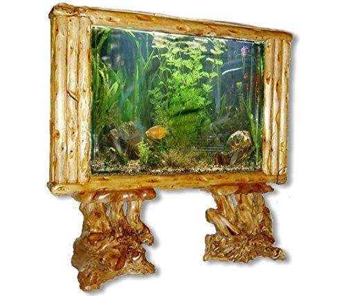 Aquarium-Trennwand Big Floor-160 XXL natur Holz Standaquarium