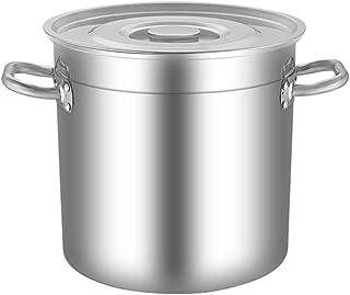 Heavy Acero Inoxidable Cuchara de Sopa con Tapa, Grande Cocina la con Tapa, Espesado Olla Grande de Gran Capacidad (Size : 20 * 20cm)