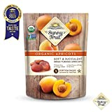ORGANIC Turkish Dried Apricots - Sunny Fruit - (5) 1.76oz Portion Packs per Bag | Purely Apricots - NO Added Sugars, Sulfurs or Preservatives | NON-GMO, VEGAN, HALAL & KOSHER