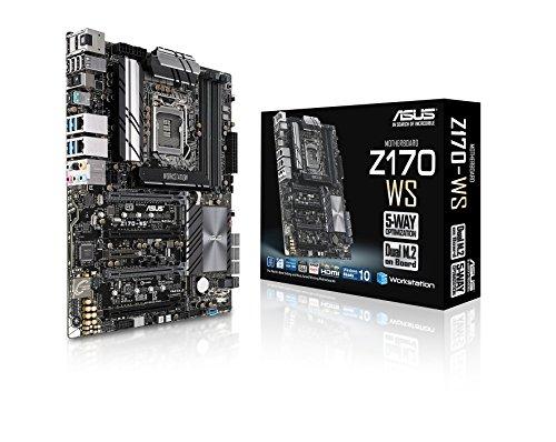 Asus Z170-WS DDR4 Server/Workstation Board for 6th Generation Processors (LGA1151, DDR4 Max 64GB, 4-Way SLI/Crossfire, Dual Intel LAN)